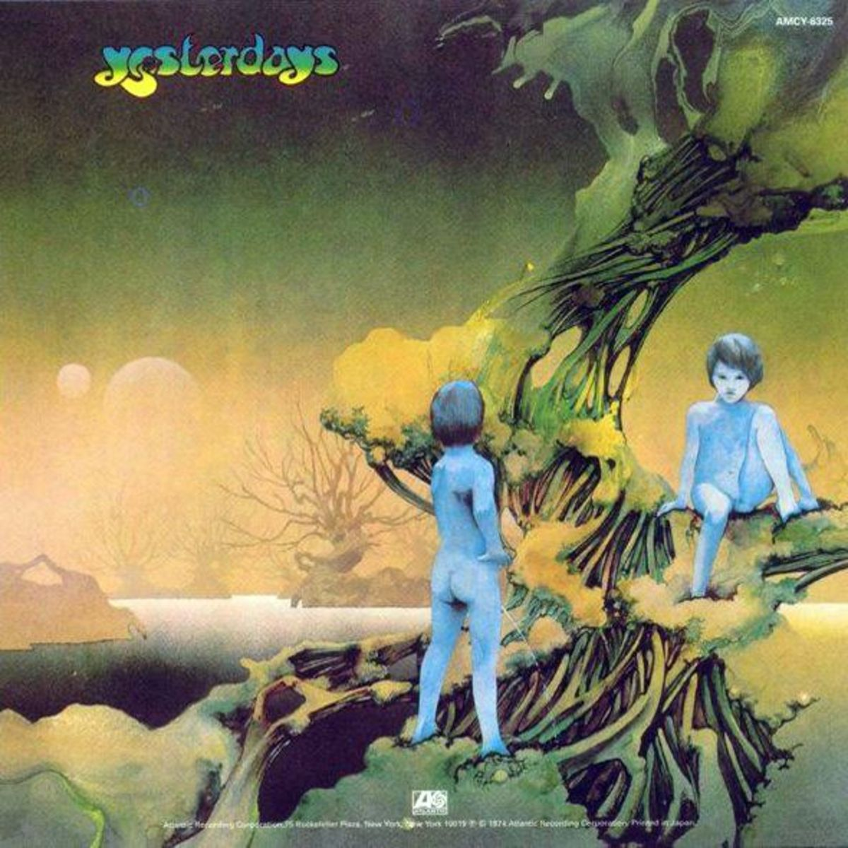 "Yes ""Yesterdays"" Atlantic Records SD 18103 (1975) Back Cover Alternate Album Cover Art & Design by Roger Dean"