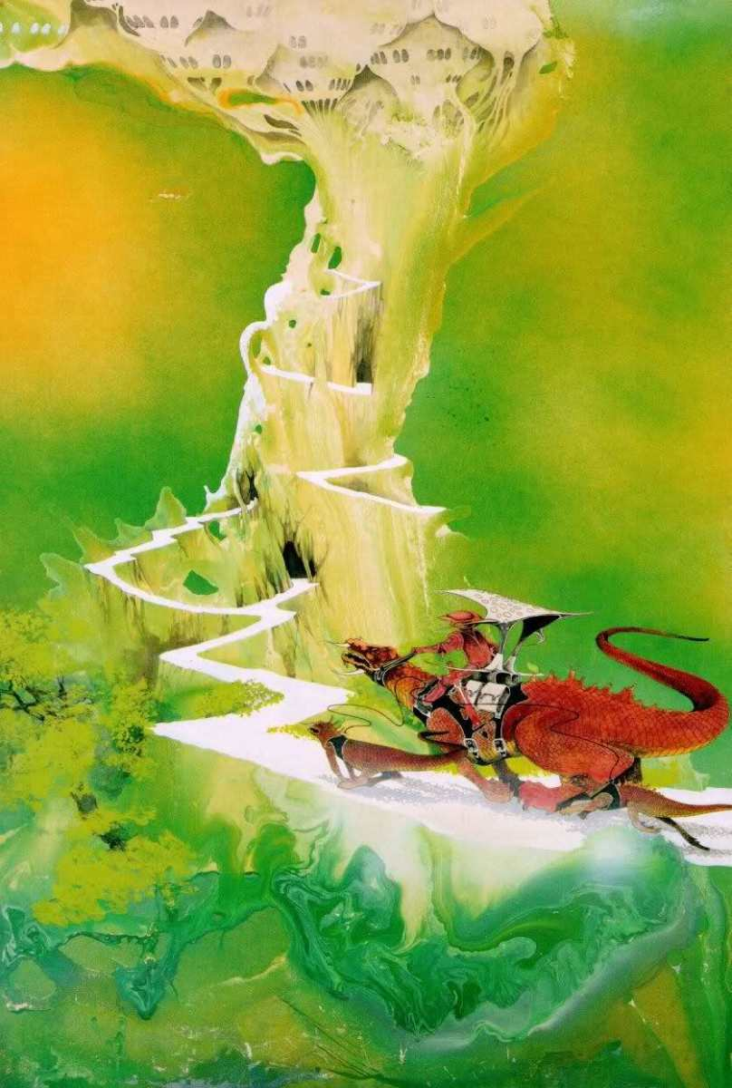 "Front Cover Panel from Roger Dean's First Book ""Views"""
