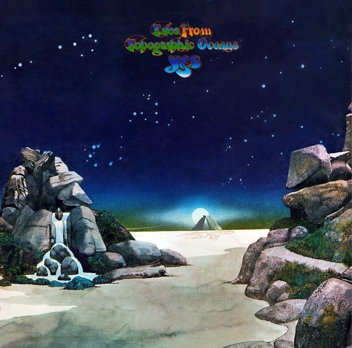 "Yes ""Tales from Topographic Oceans"" Atlantic Records SD 2-908 2-12"" LP Vinyl Record Set, US Pressing (1973) Gatefold Album Cover Art & Design Roger Dean"