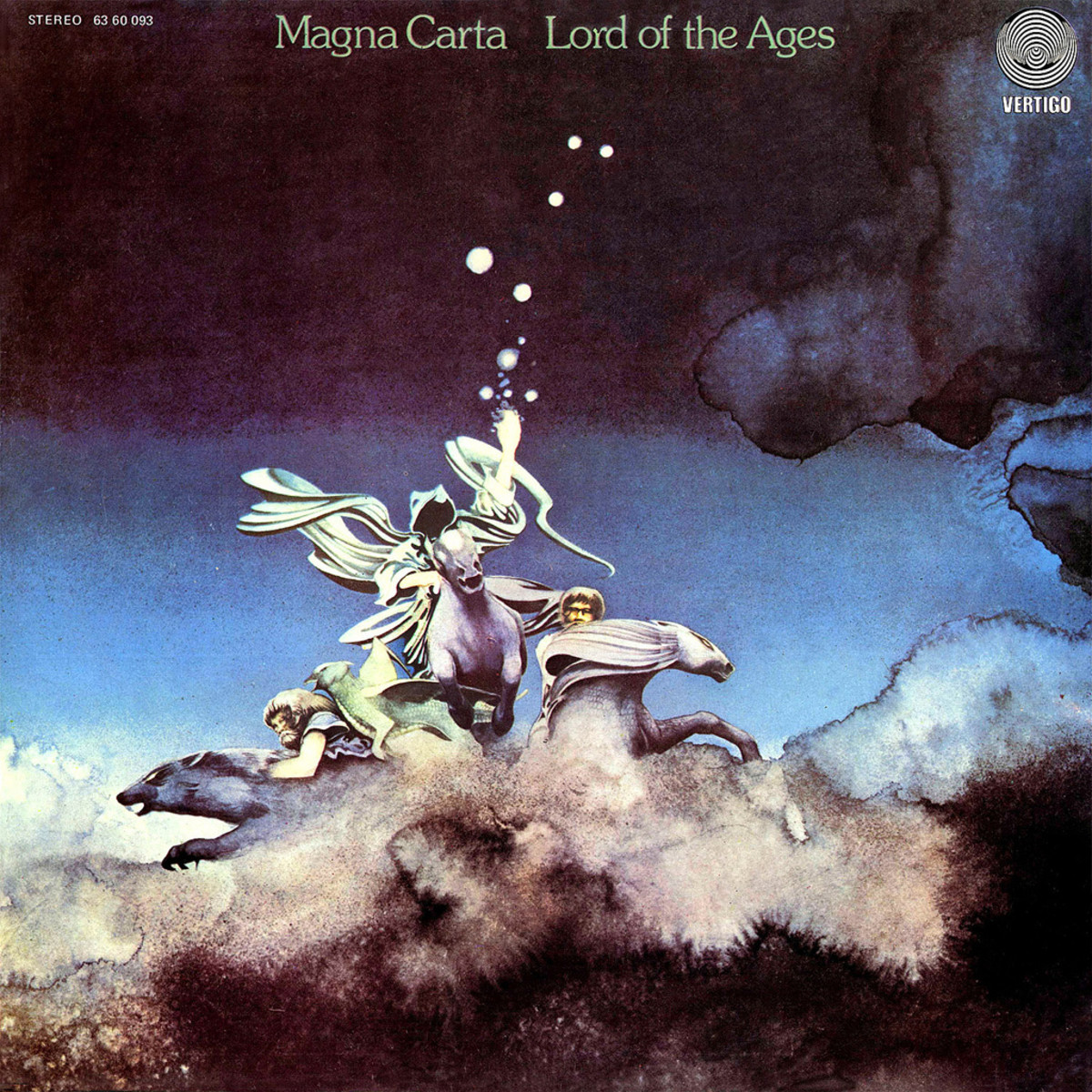 "Magna Carta  ""Lord of the Ages"" Vertigo Records  6360 093 12"" Vinyl Record, UK Pressing (1973) Gatefold Album Cover Art & Design by Roger Dean"