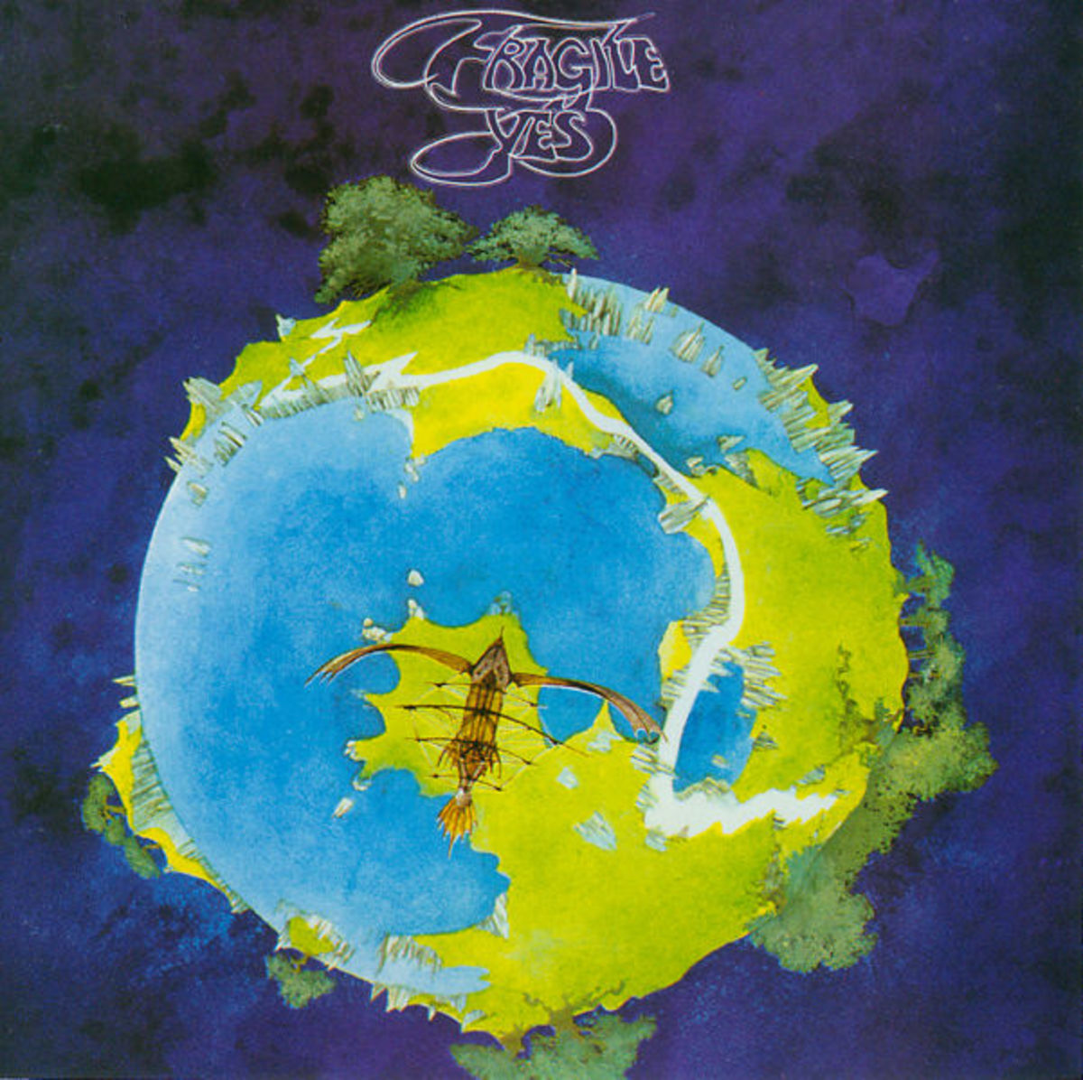 "Yes ""Fragile"" Atlantic Records SD 7211 12"" LP Vinyl Record, US Pressing (1971) Gatefold Album Cover Art & Design by Roger Dean"