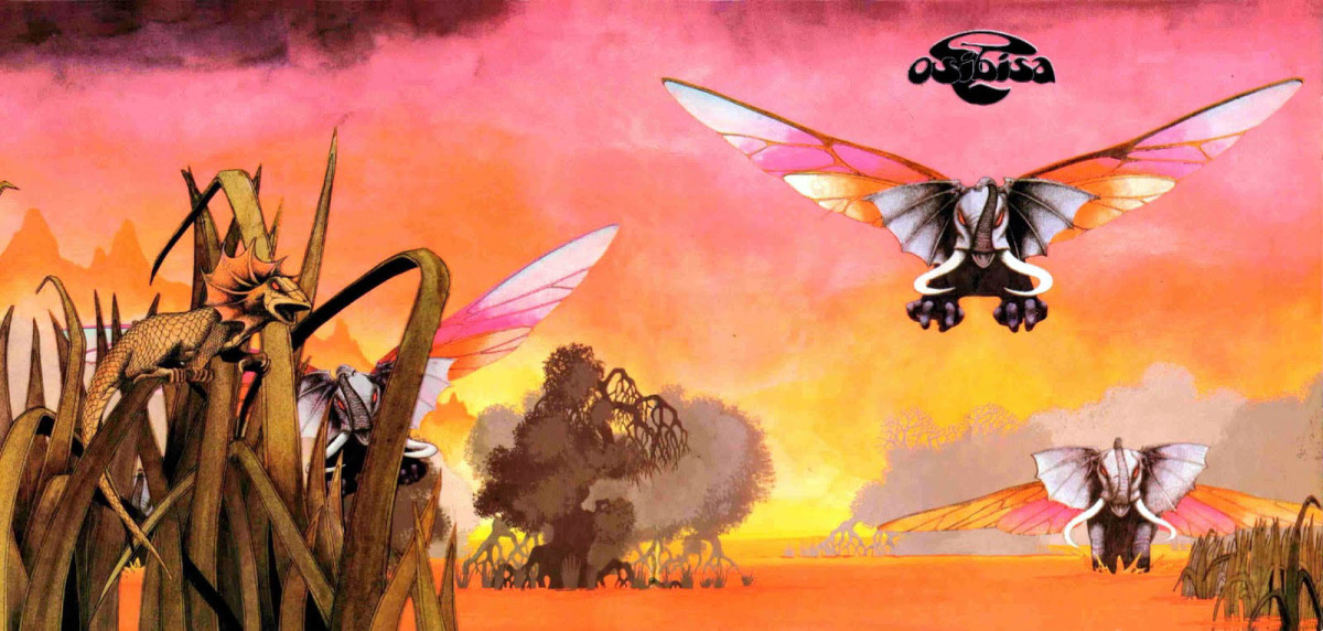 "Osibisa ""Osibisa"" Open Gatefold Album Cover Art Roger Dean (1971)"