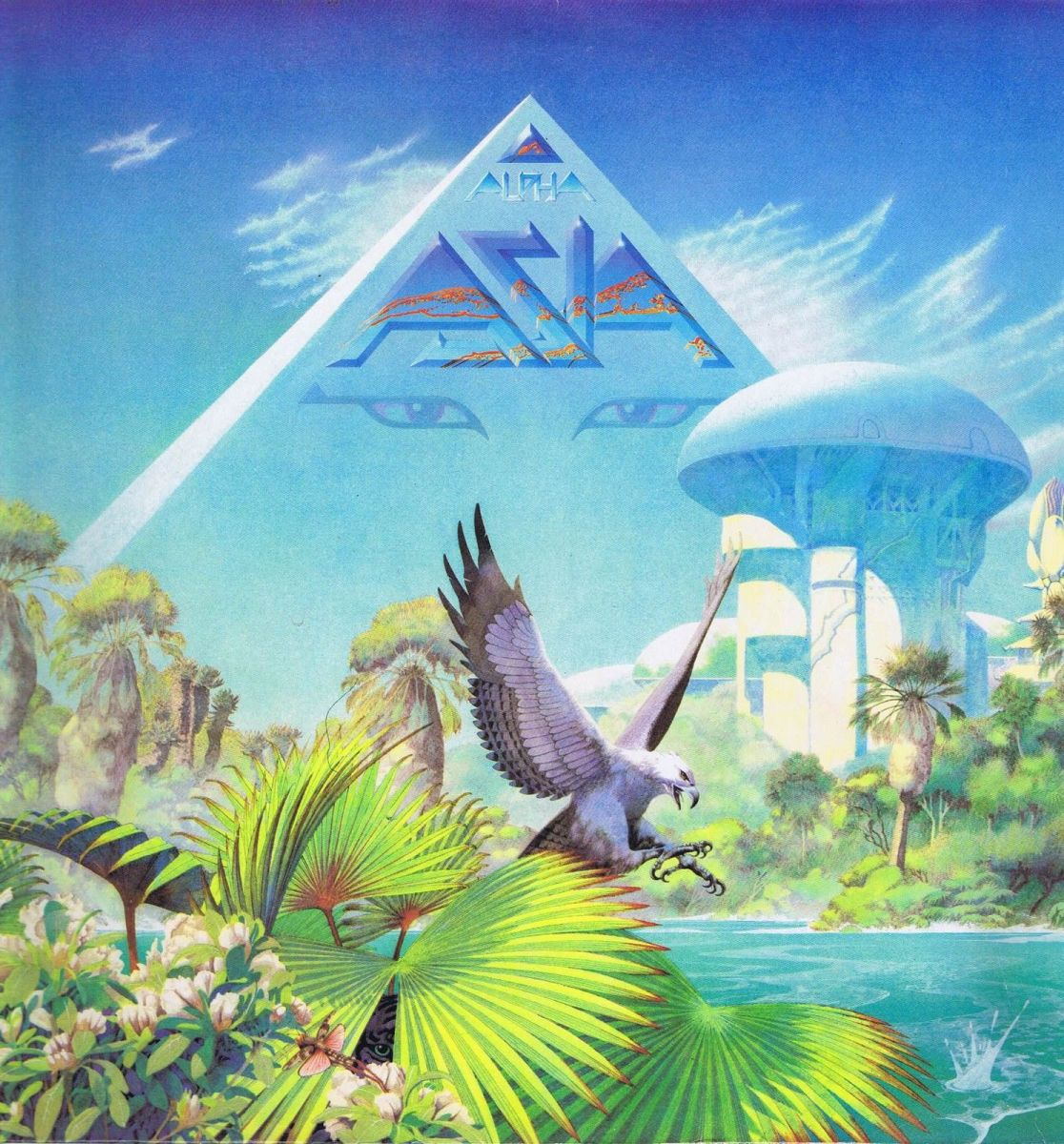 "Asia ""Alpha"" Geffen Records GEF 22508 12"" LP Vinyl Record, UK Pressing (1983) Album Cover Art & Design by Roger Dean"