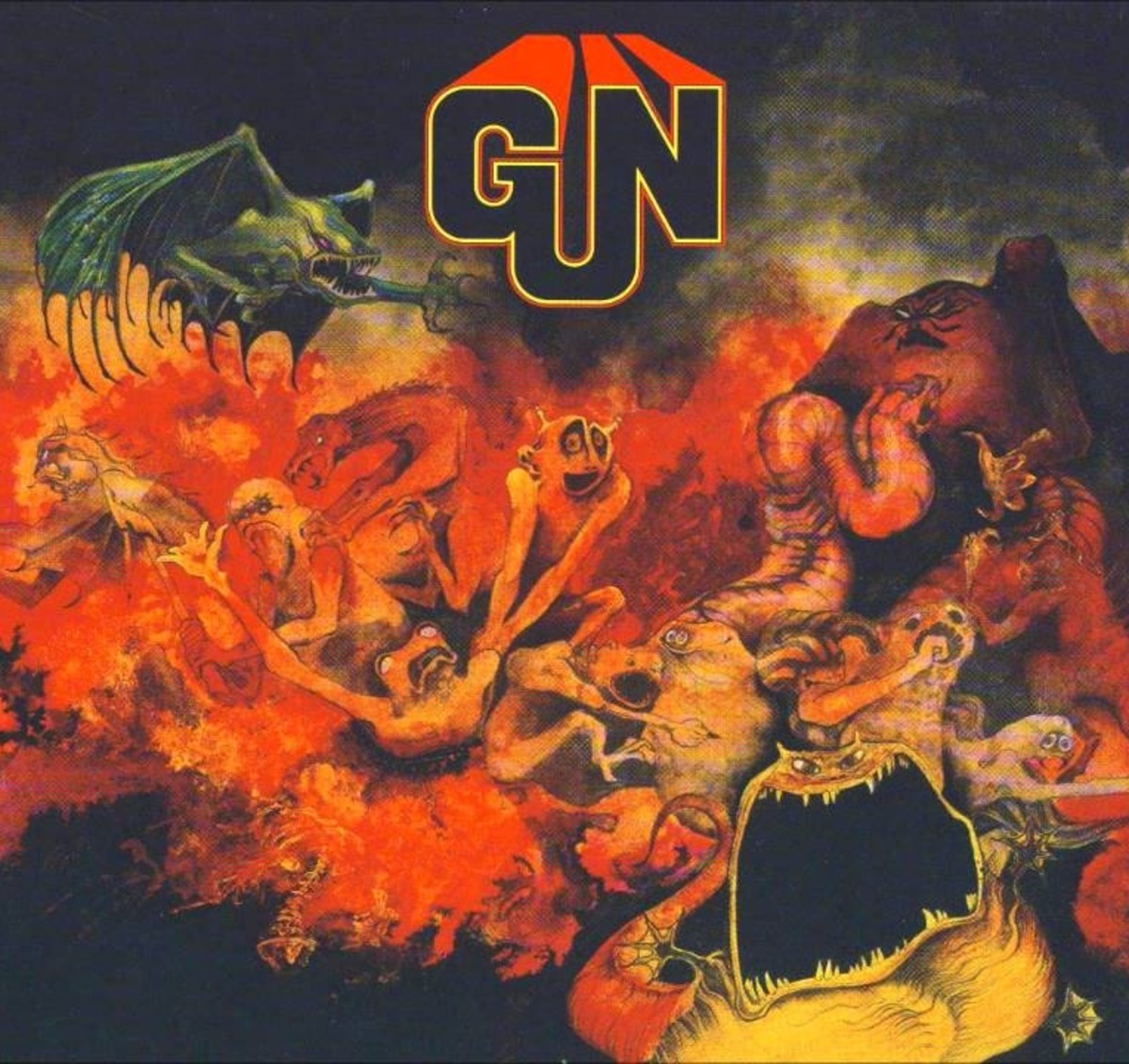 "The Gun ""Gun"" CBS Records S 63552 12"" LP Vinyl Record UK Pressing (1968) Album Cover Art & Design by Roger Dean"