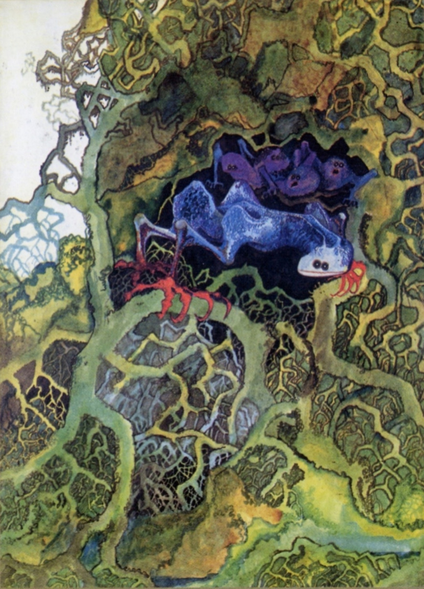 "Front Cover Illustration from the Promotional Booklet Relaesd inside the Yes ""Fragile"" Album (1971) Illustration by Roger Dean"