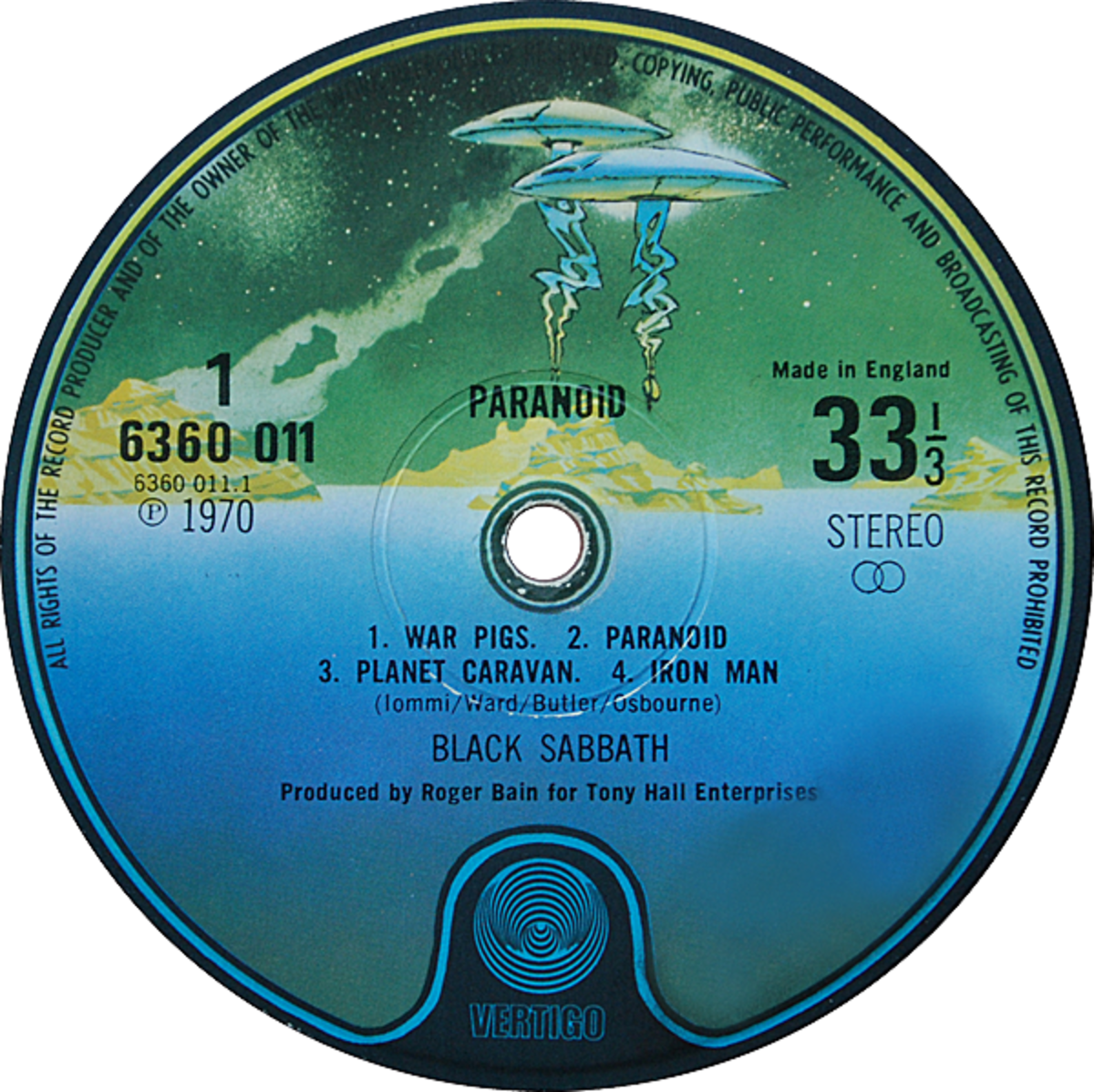 Vertigo Records Relaunch Label Art Created in 1973 by Roger Dean