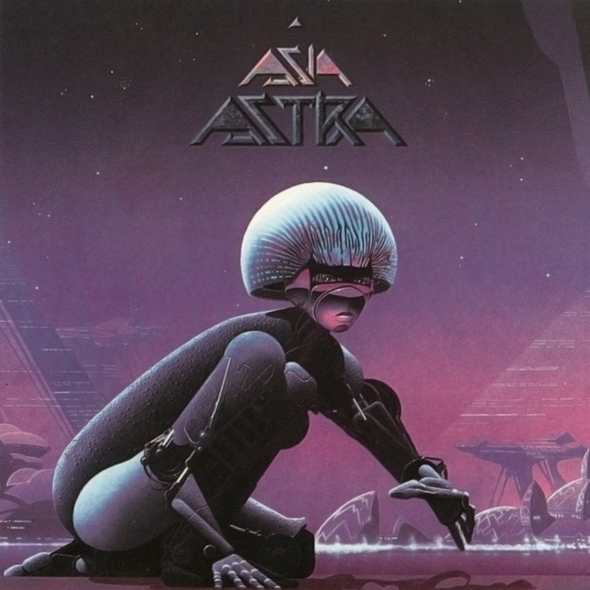 "Asia ""Astra"" Geffen Records GEF 26413 12"" LP Vinyl Record, UK Pressing (1985) Album Cover Art & Design by Roger Dean"