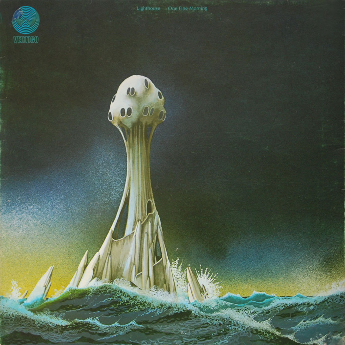 "Lighthouse ""One Fine Morning"" Vertigo Records 6342 010 12"" LP Vinyl Record, German Pressing (1971) Album Cover Art & Design by Roger Dean"