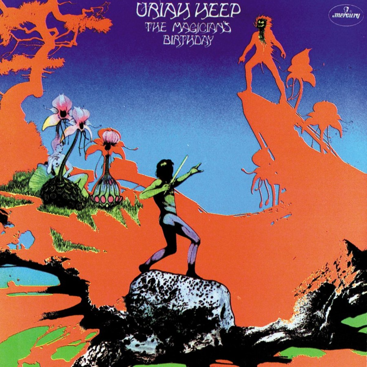 "Uriah Heep ""The Magicians Birthday"" Mercury Records SRM-1 652 12"" LP Vinyl Record, US Pressing (1972) Gatefold Album Cover Art & Design by Roger Dean"