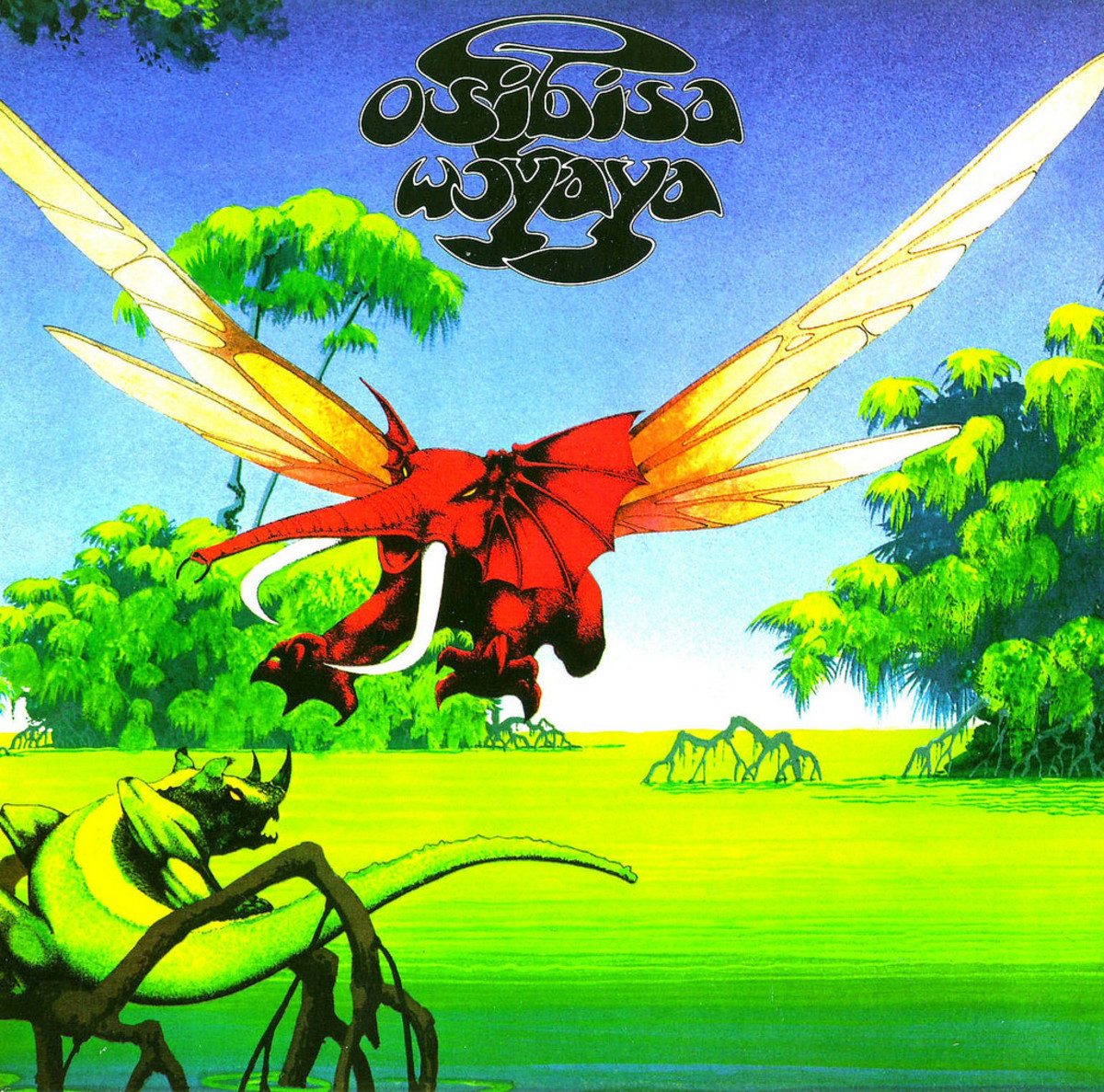 "Osibisa ""Woyaya"" MCA Records MDKS 8005 12"" LP Vinyl Record, UK Pressing (1971) Gatefold Album Cover Art by  Roger Dean"