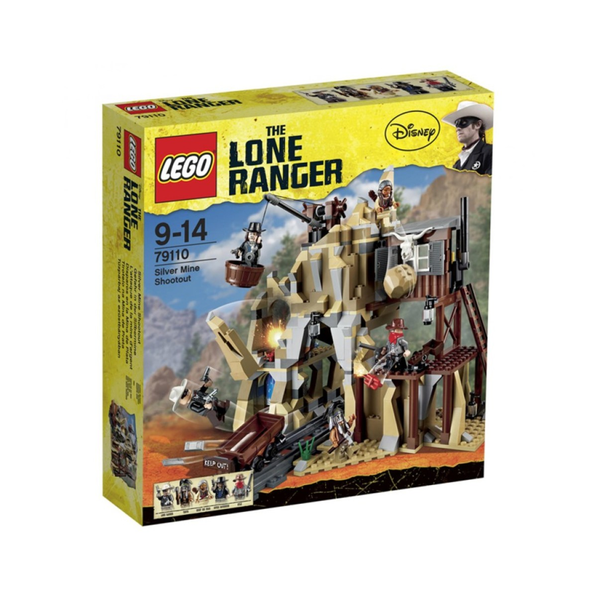 LEGO The Lone Ranger Silver Mine Shootout 79110 Box