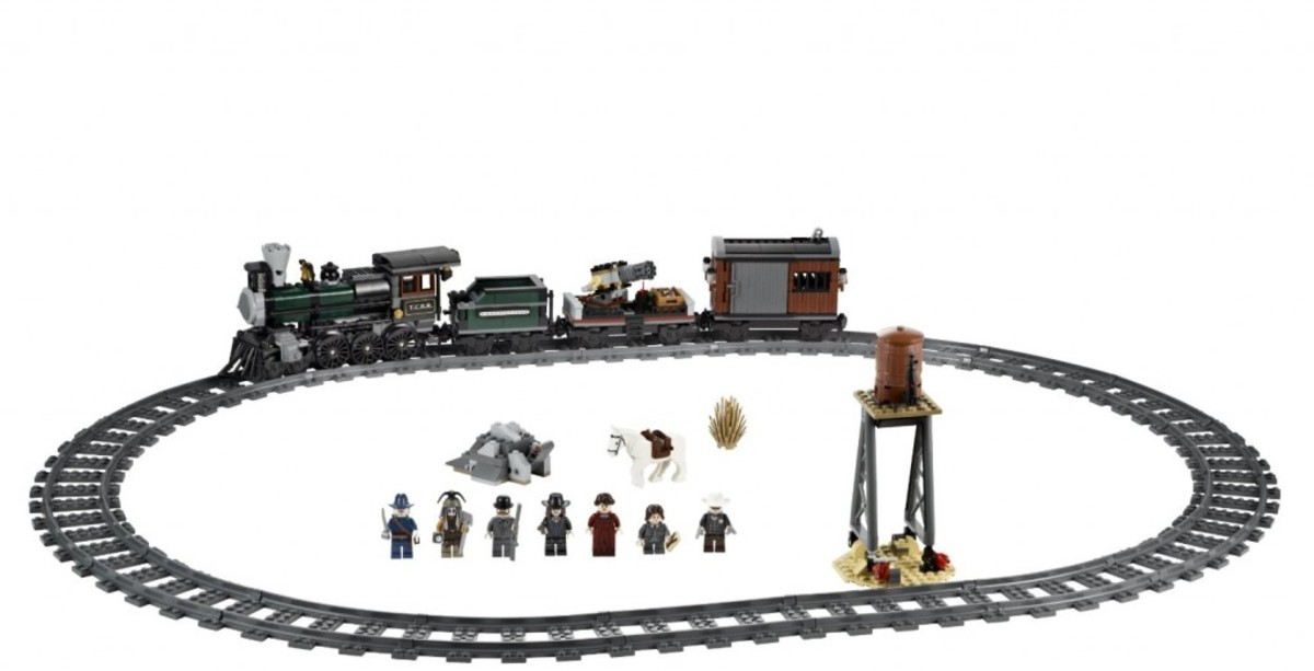LEGO The Lone Ranger Constitution Train Chase 79111 Assembled