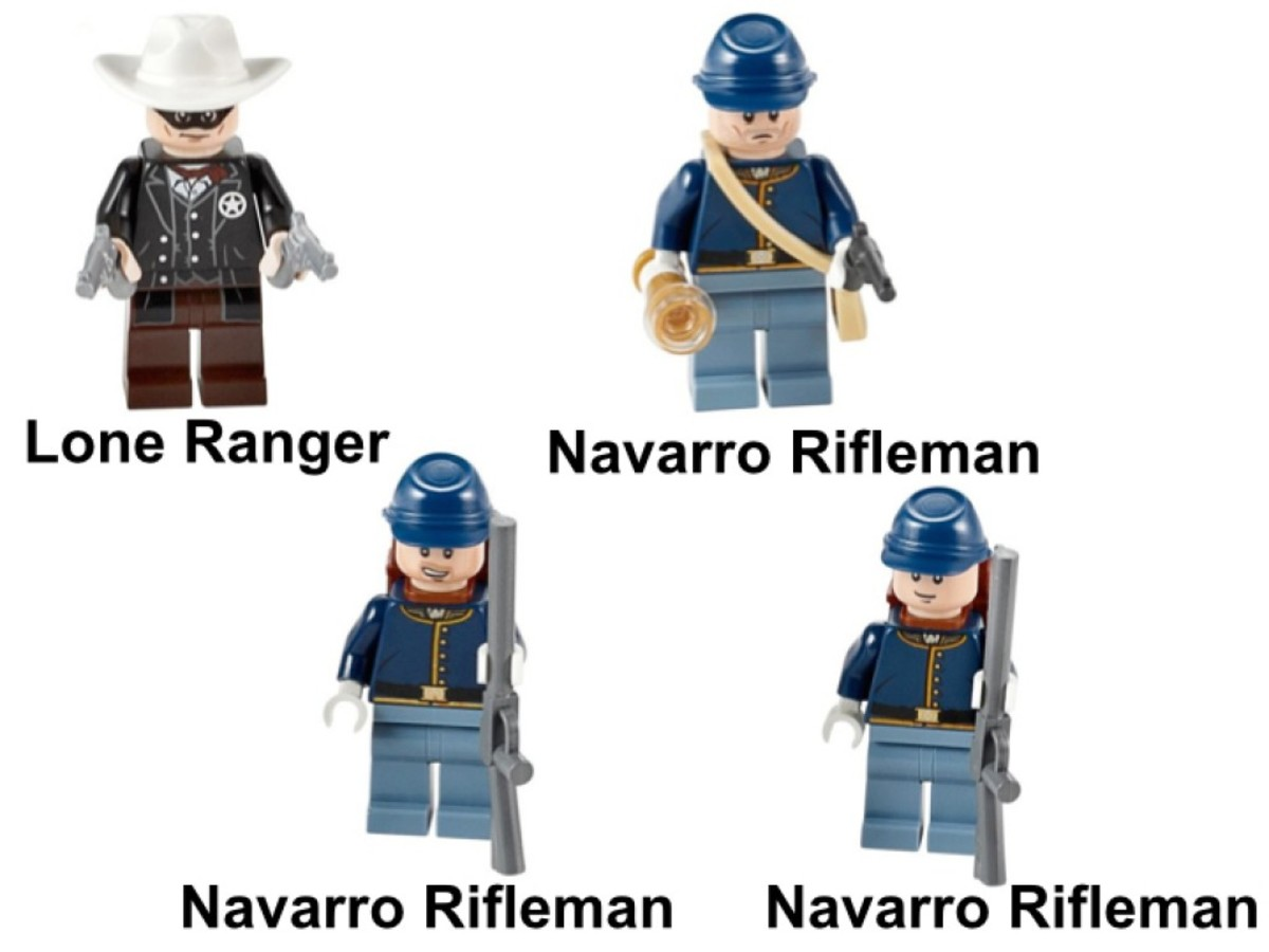 LEGO The Lone Ranger Cavalry Builder's Set 79106 Minifigures