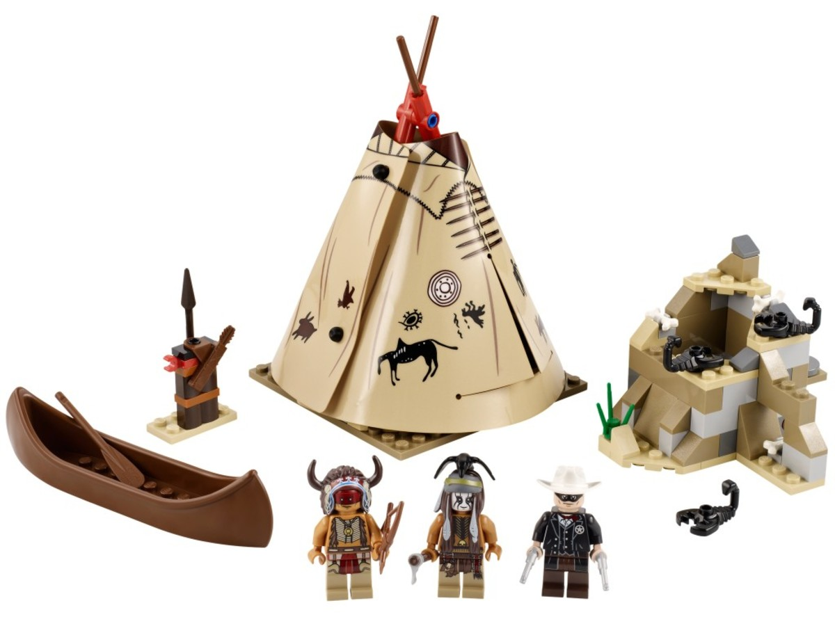 LEGO The Lone Ranger Comanche Camp 79107 Assembled Front