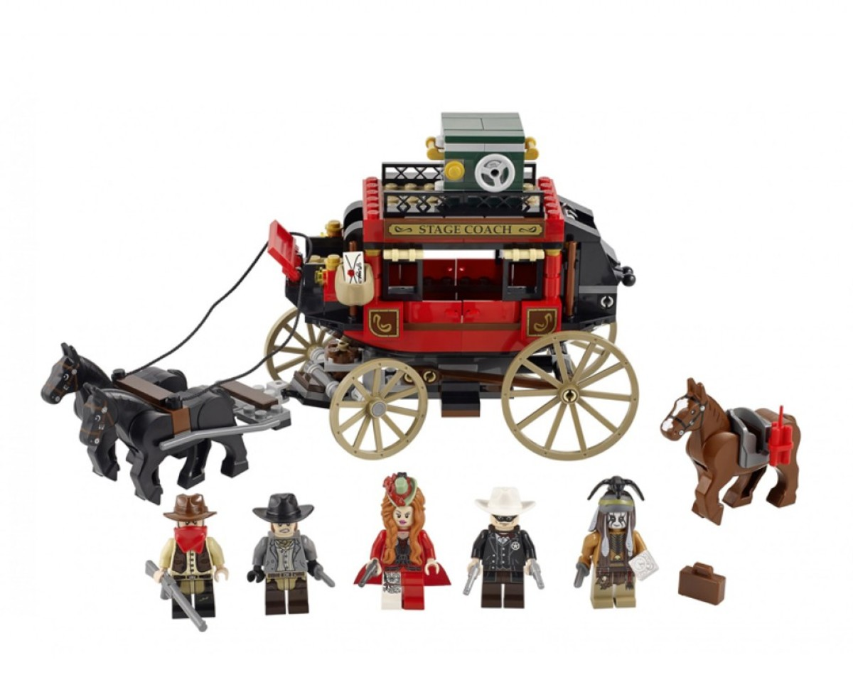 LEGO The Lone Ranger Stagecoach Escape 79108 Assembled