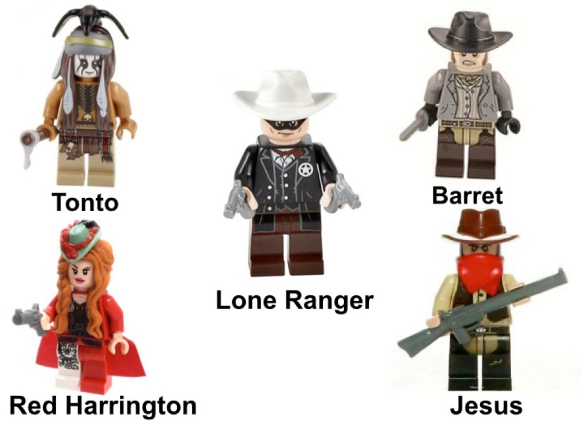 LEGO The Lone Ranger Stagecoach Escape 79108 Minifigures