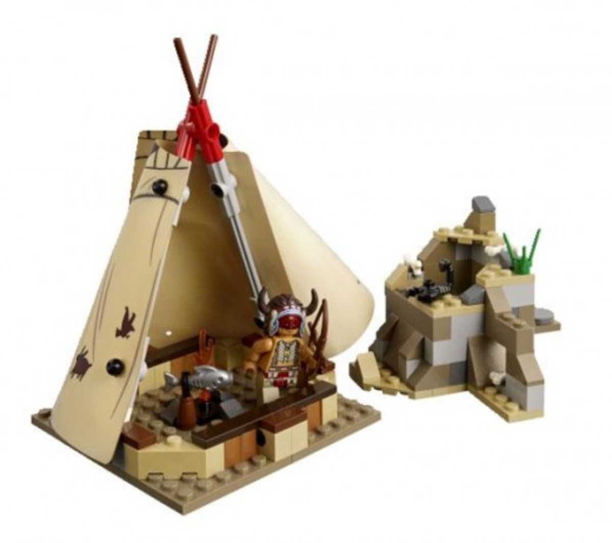 LEGO The Lone Ranger Comanche Camp 79107 Assembled Back