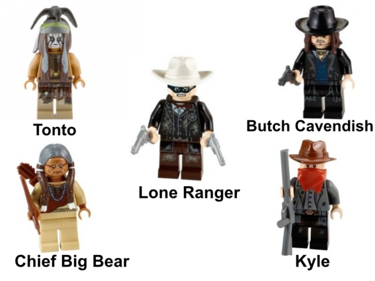 LEGO The Lone Ranger Silver Mine Shootout 79110 Minifigures