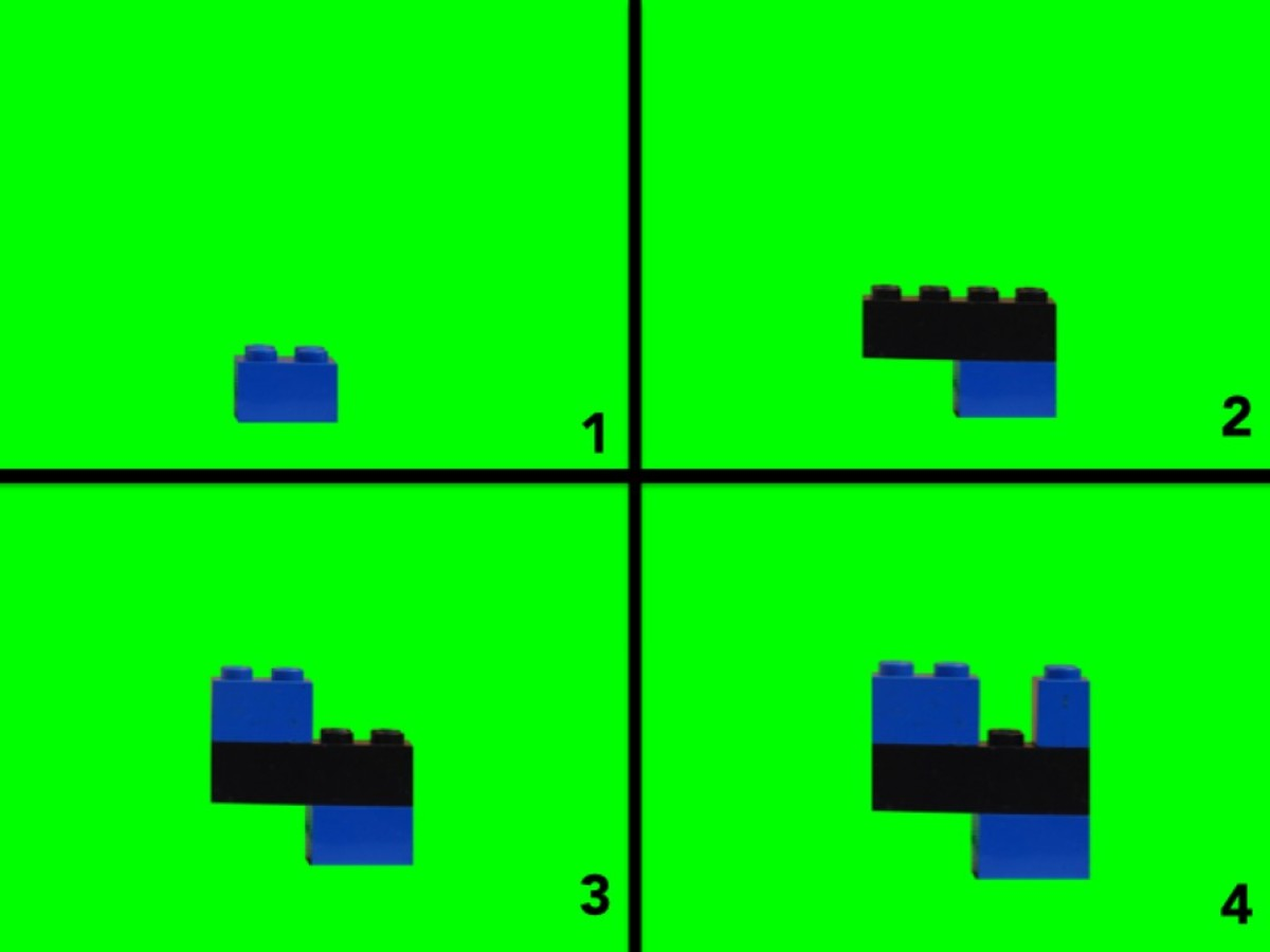 LEGO Four Building Instructions Steps 1-4