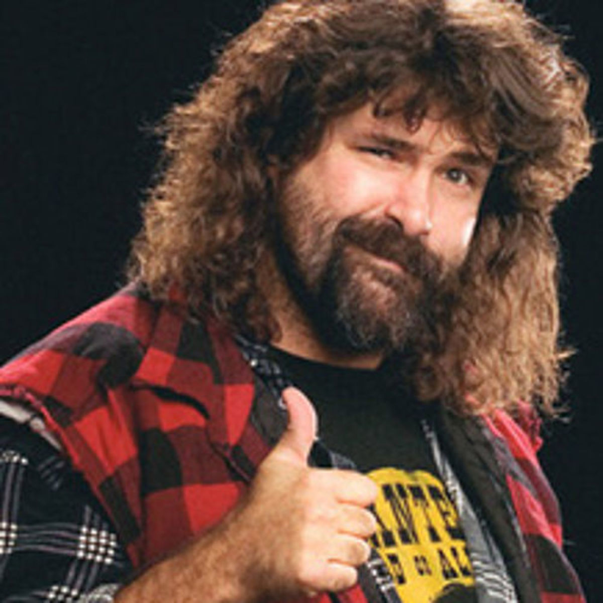 "Mick Foley, one of three wrestlers featured in ""Beyond The Mat"""