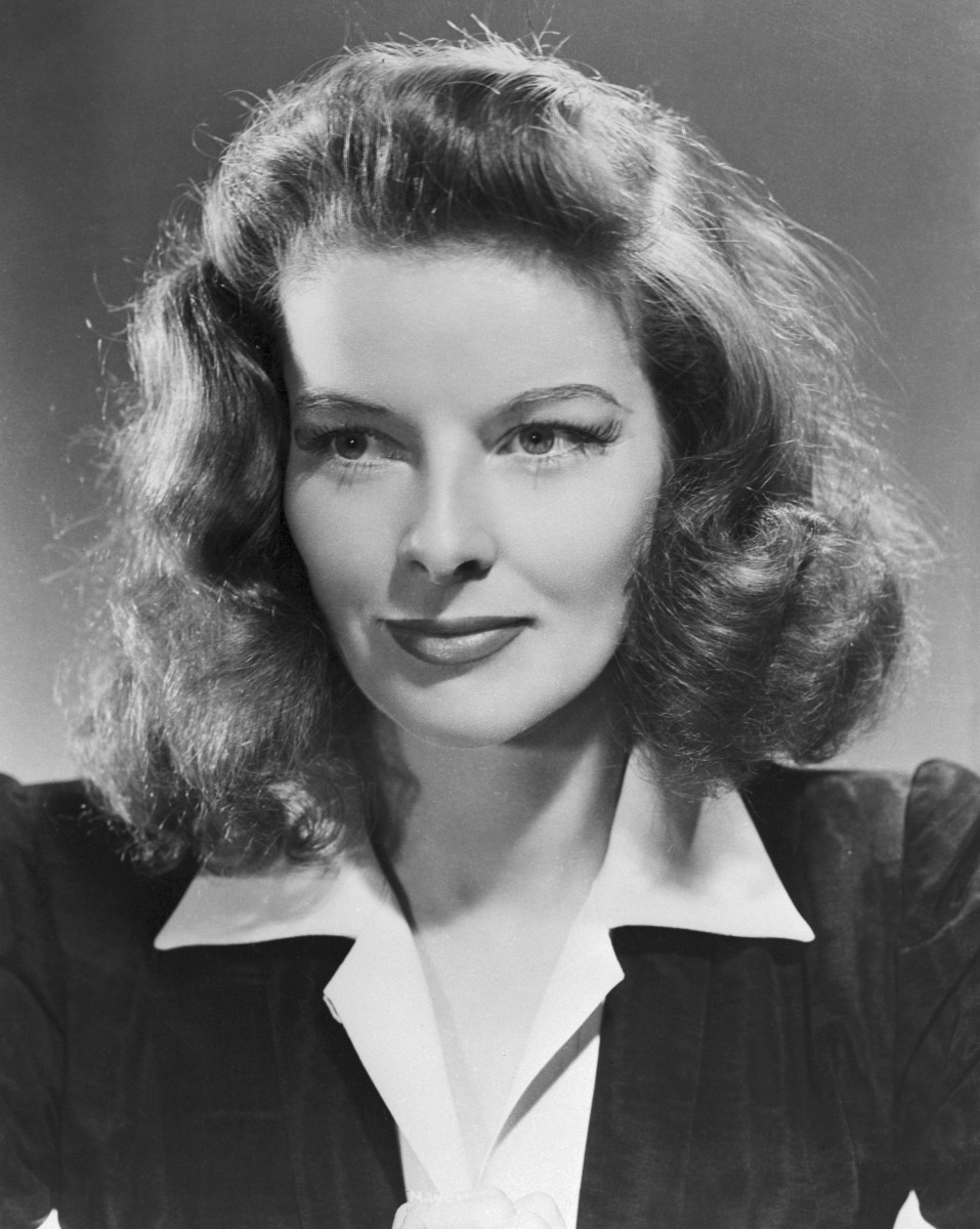 Actress Katharine Hepburn at age 33 (1941). Three years after surviving the 1938 Great New England Hurricane.
