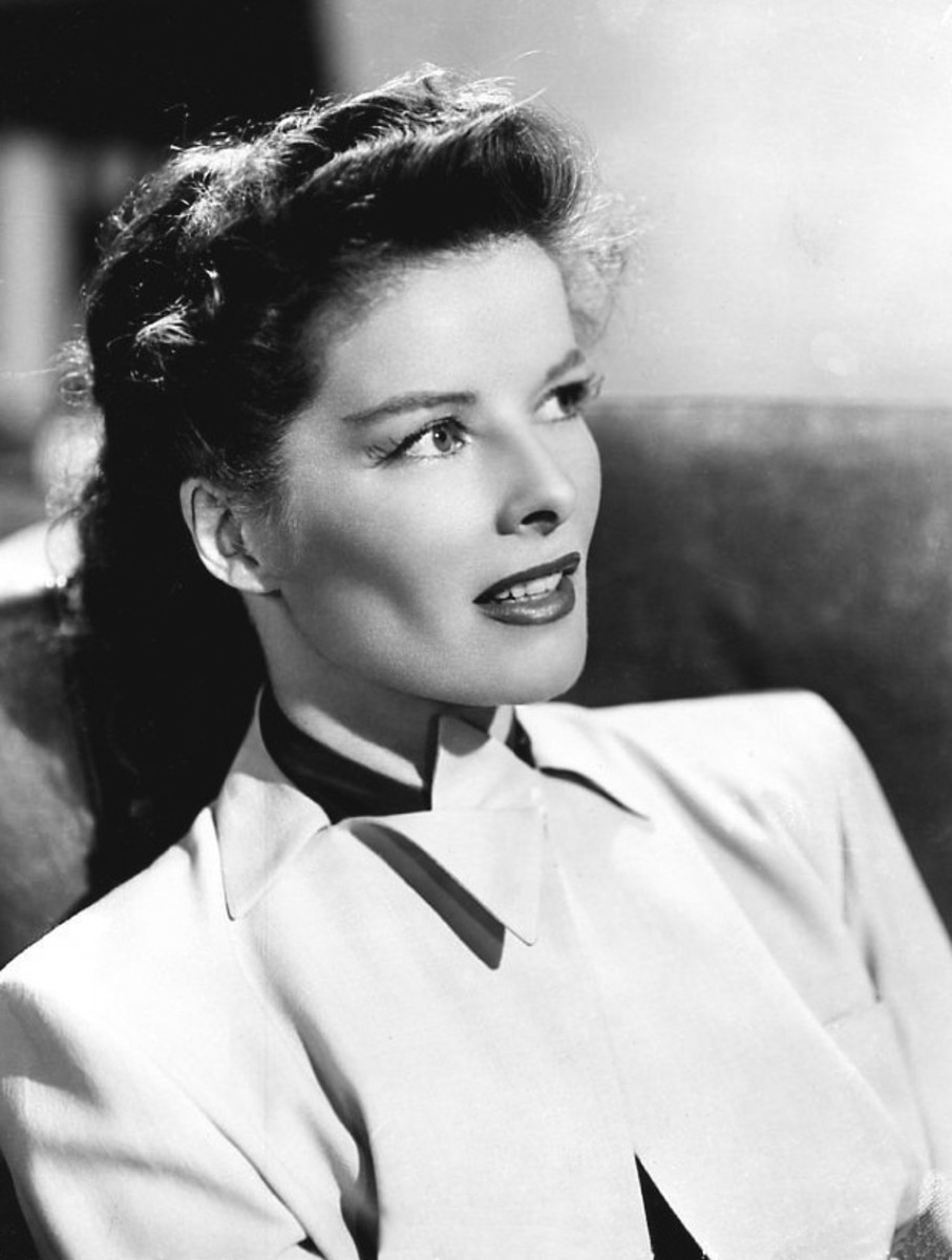 Katharine Hepburn was known for her fierce personality and also her high cheekbones!