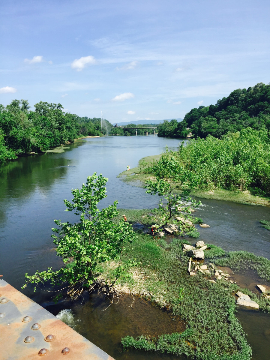 A view of the James River from the Percival's Island bridge over to Amherst County