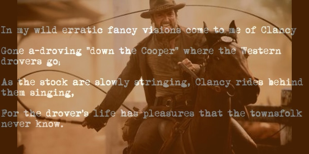 Clancy of the Overflow, Australia's most famous drover