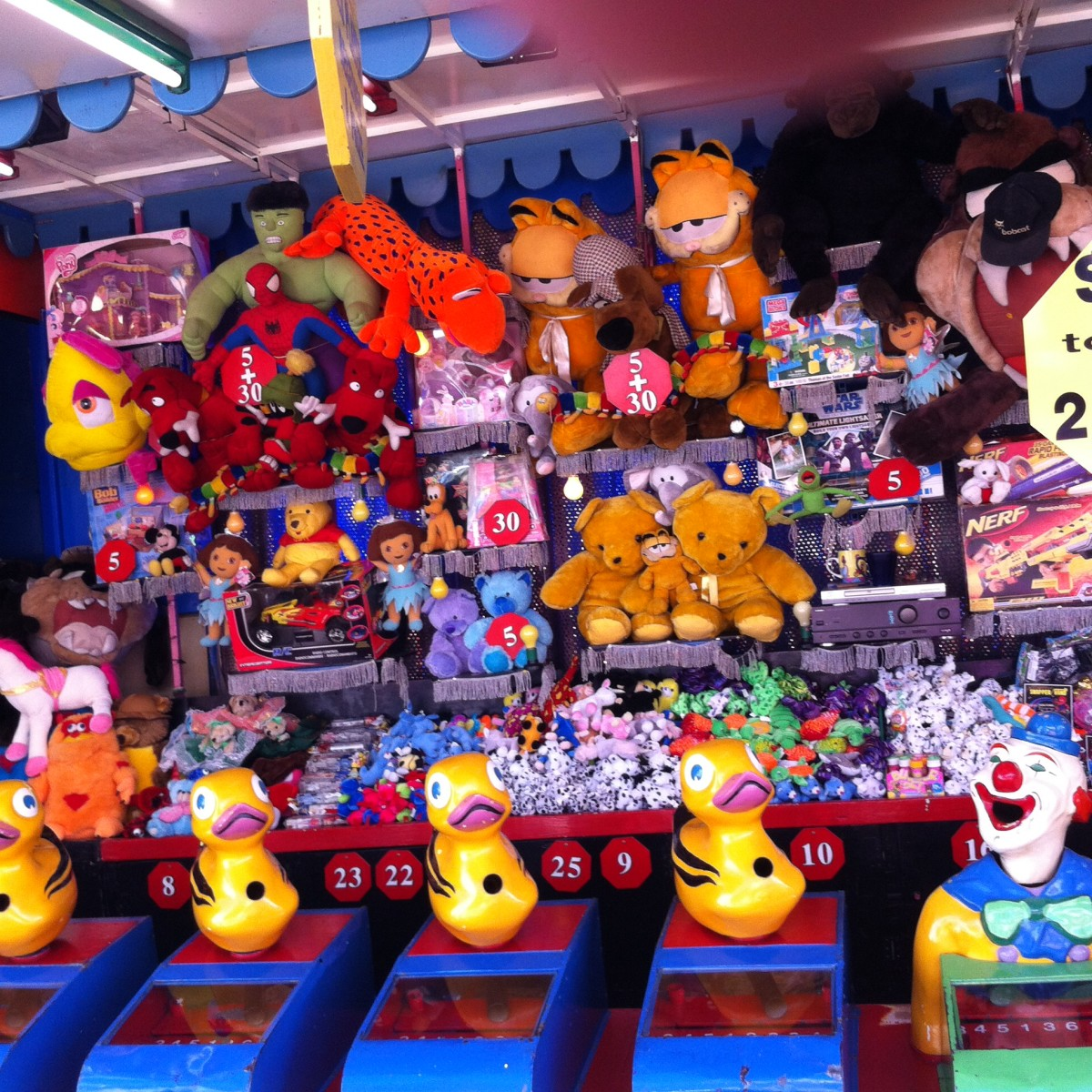 Typical sideshow stall at the Ekka