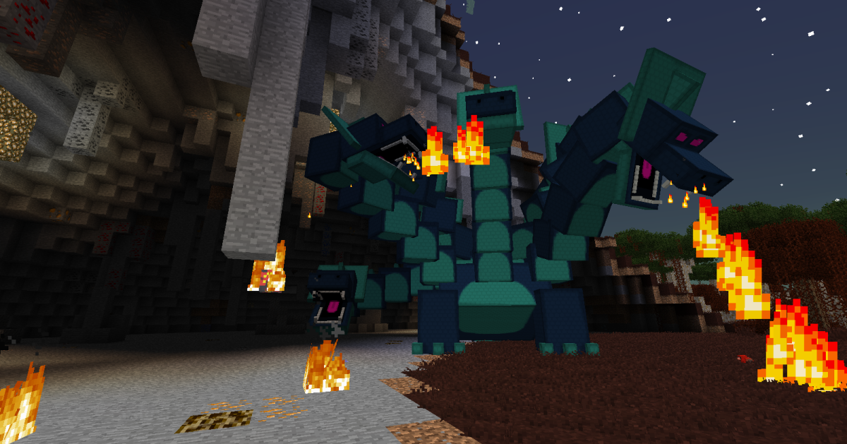 The Hydra grows a new head every time it loses one, and each head can attack independently with either fire or a powerful bite attack.