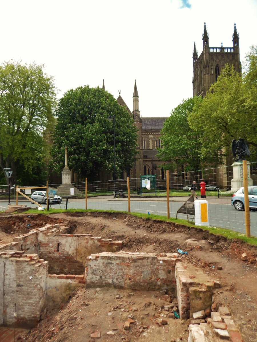 The Lich Street site, in the shadow of Worcester Cathedral.