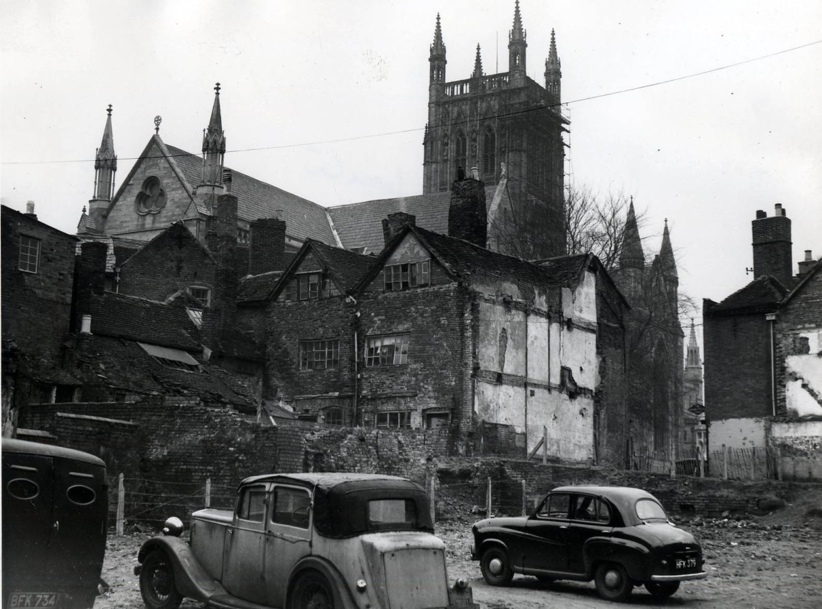 The run-down properties of Lich Street in 1954, 10 years before they were demolished.