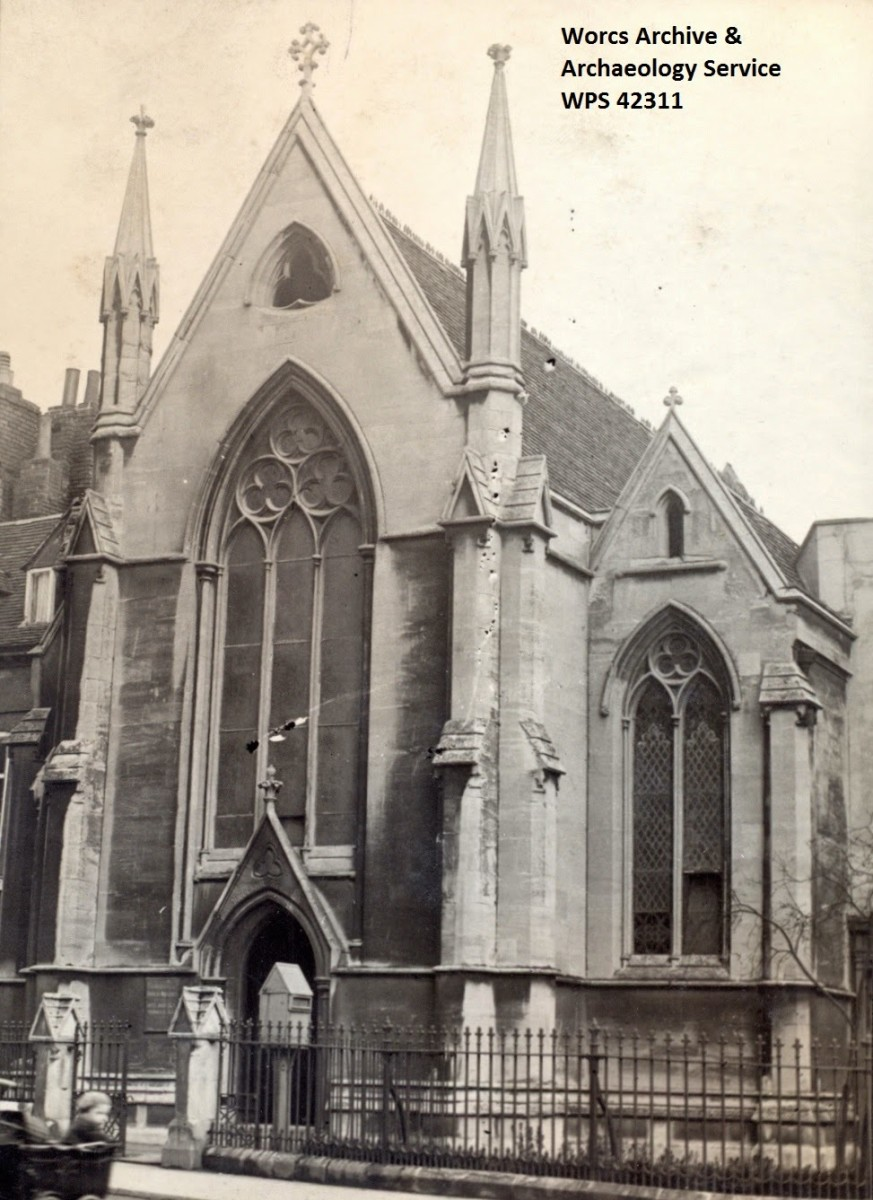 St. Michael's Church. The stone piece found during the dig would have come from one of the two ornamental turrets.