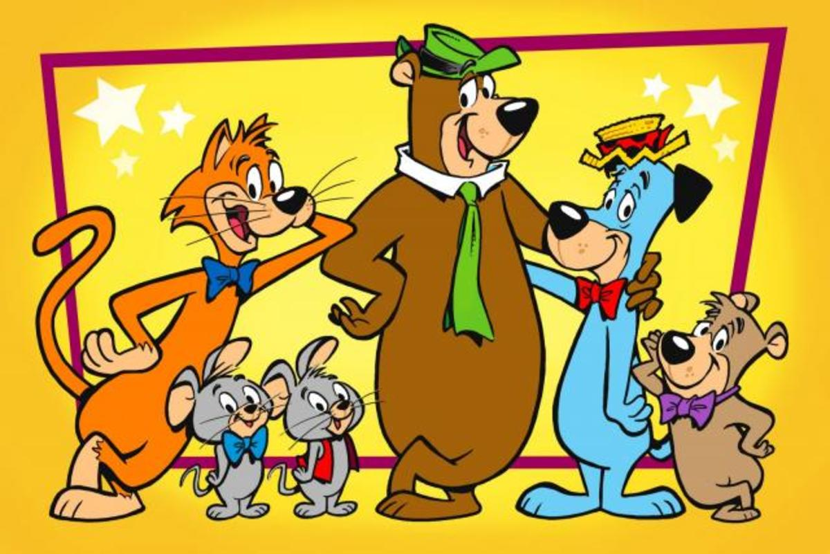 "The initial cast of ""The Huckleberry Hound Show"""