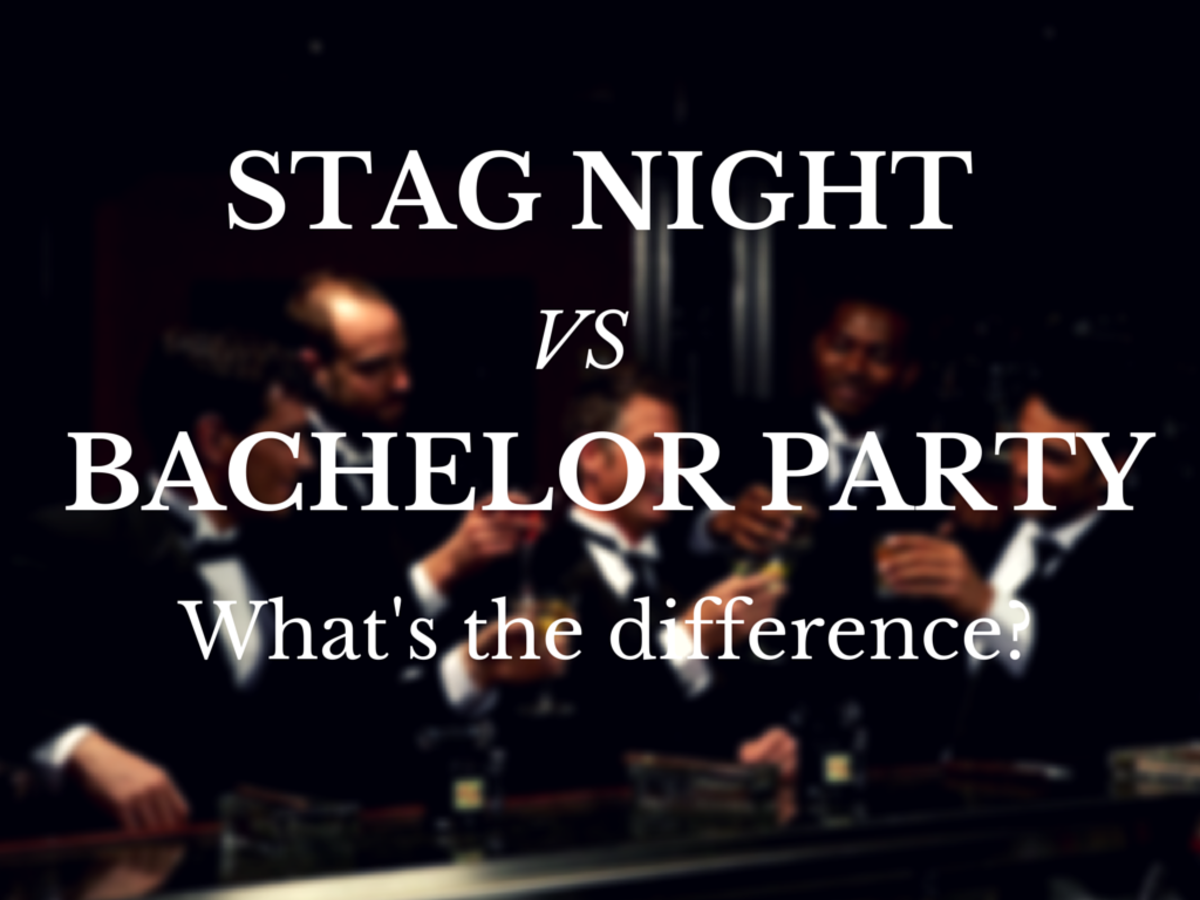 What is the difference between stag night and a bachelor party?