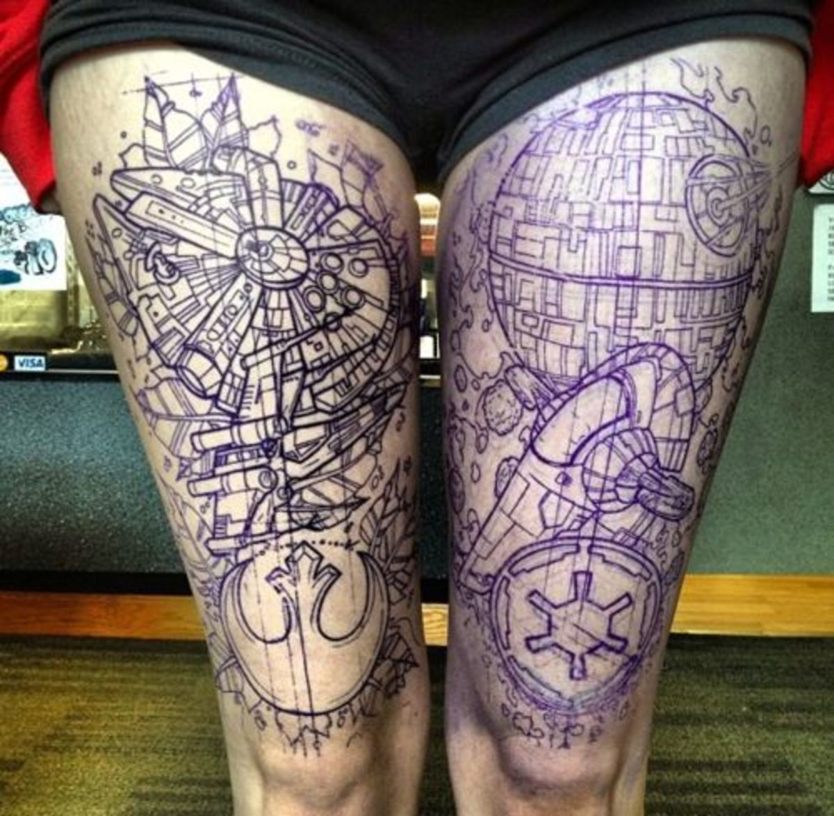 10 totally galactic star wars tattoos hubpages for Arm mural tattoos