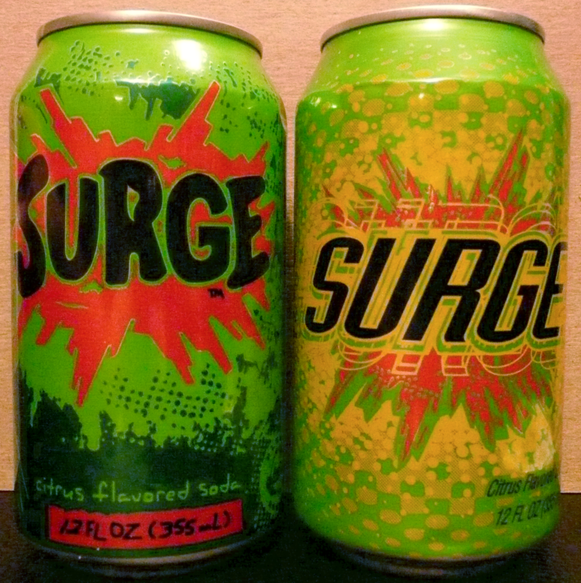 Surge is a citrus-flavored soda like Mountain Dew.