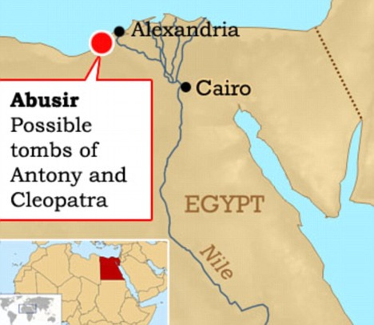 POssible Tombs of Cleopatra and Antony