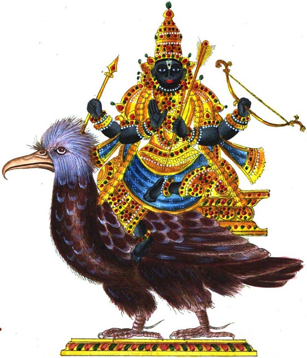 Shani Dev and Crow