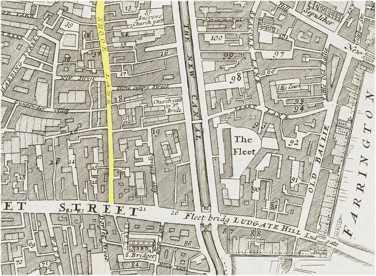Fleet Street & St Bride's Churchyard