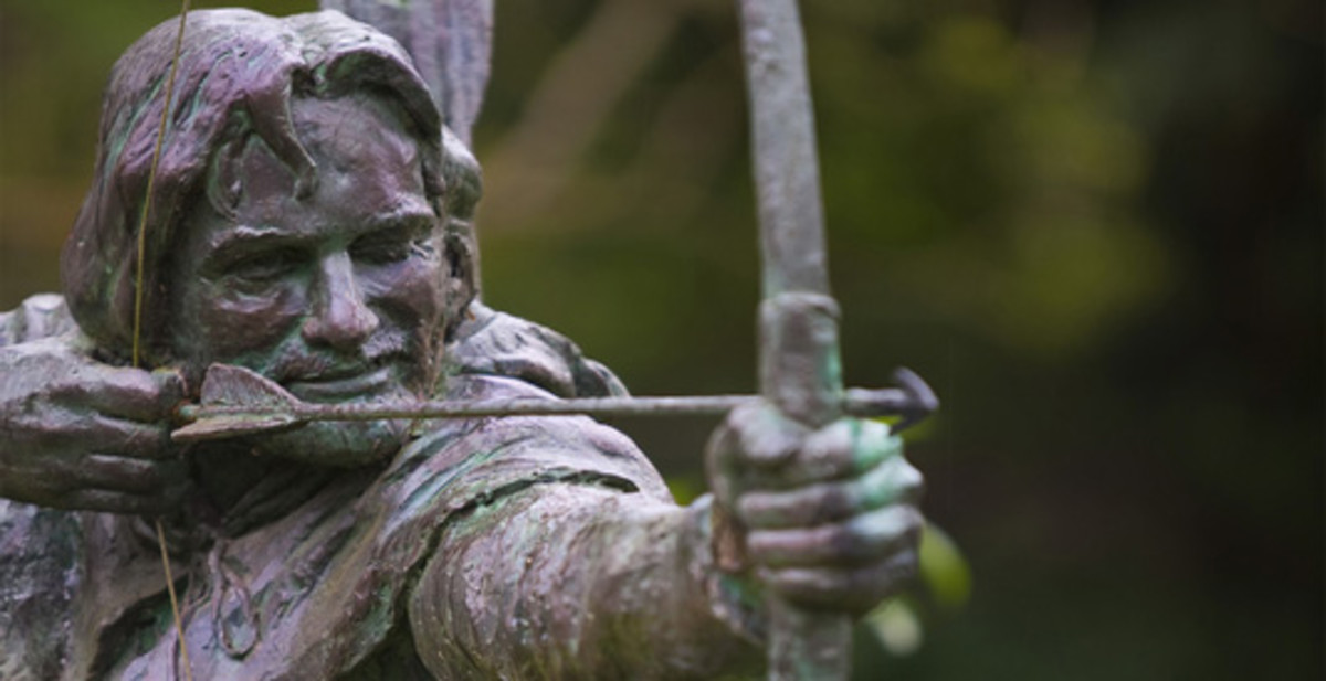 Men in the greenwoods armed with bows and arrows and taking on the soldiers of a 'bad' king. It all happened in Sussex.