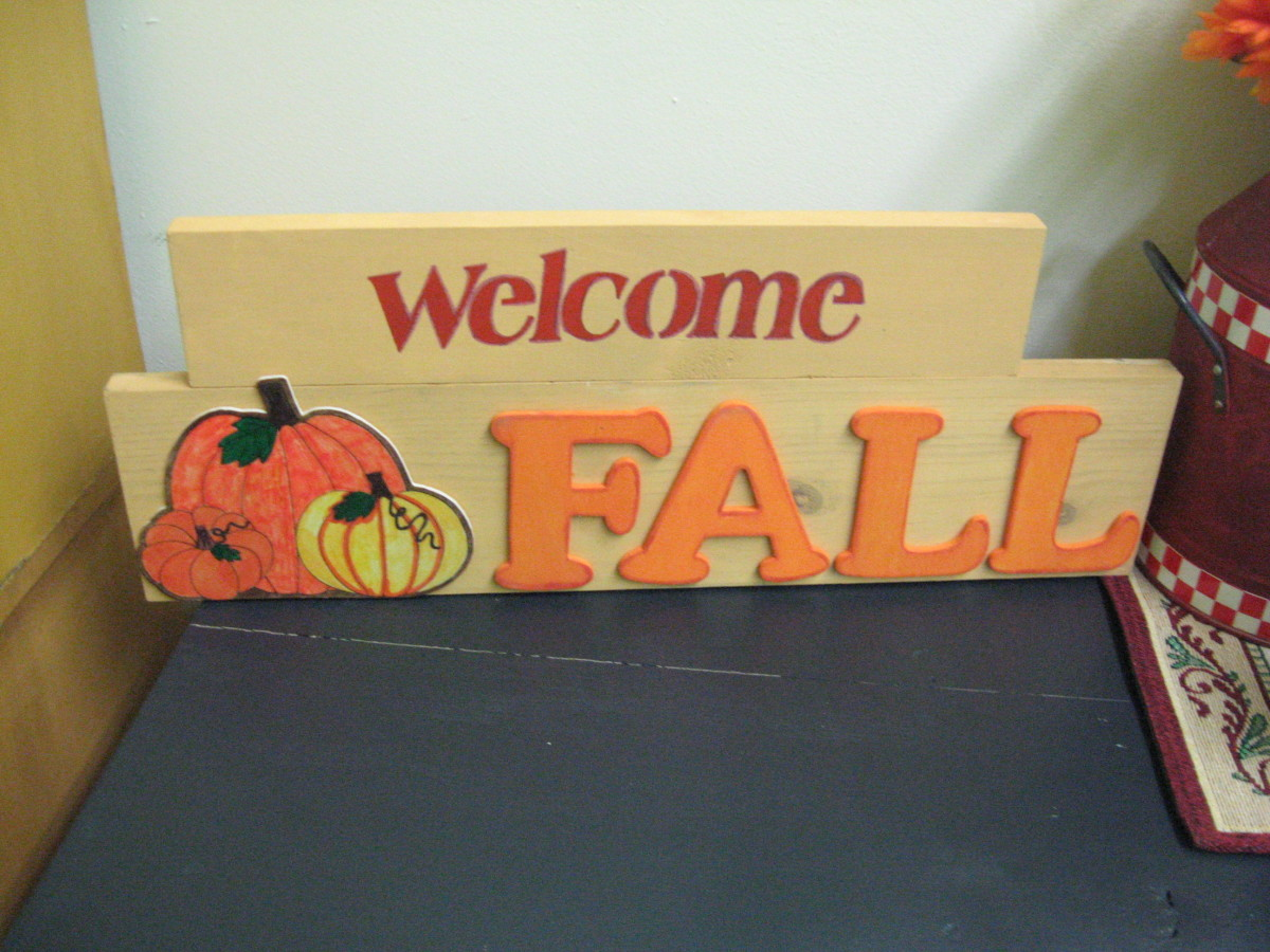 Fall signs are easy to make!