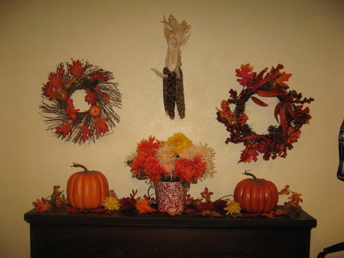 I use lots of fall decor indoors!