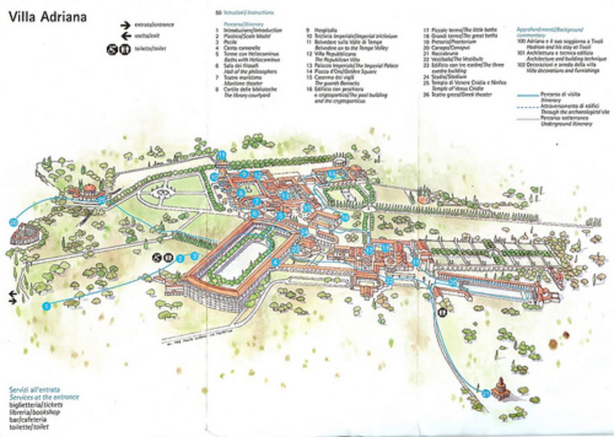 Map of Villa Adriana