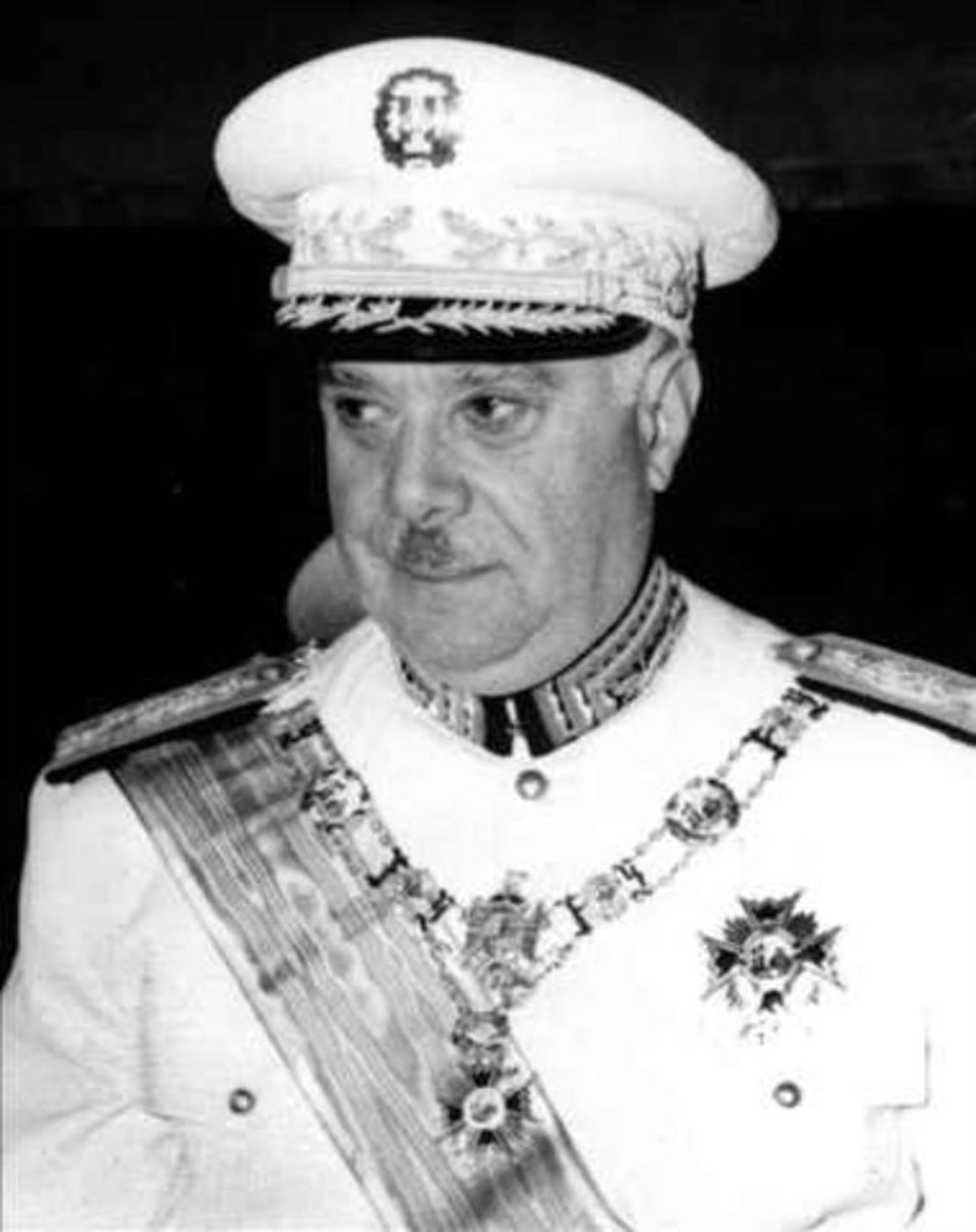 General Rafael Trujillo, dictator of the Dominican Republic from 1930-1961