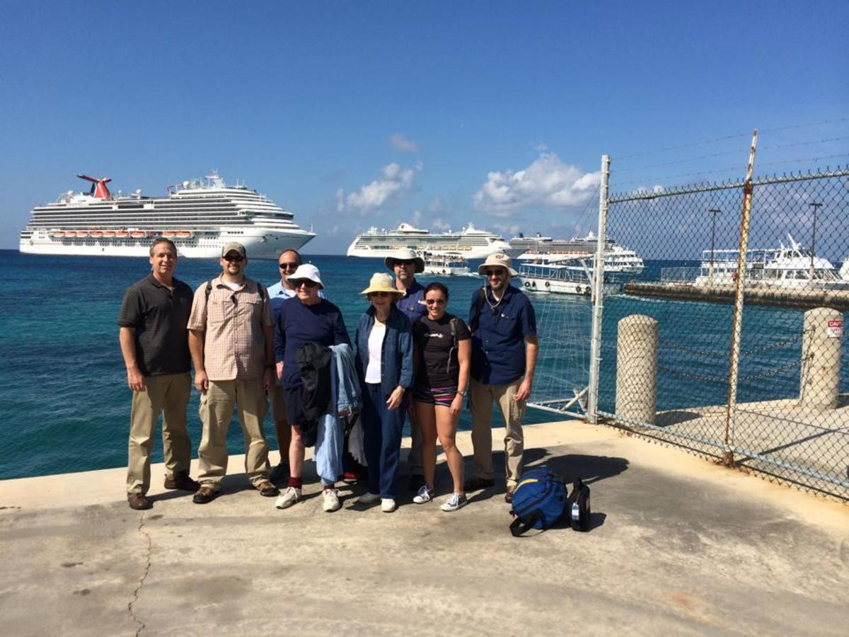 Former President Jimmy Carter visited the Stingrays with Capt. Marvin's today. Crew was Glen, Derrin, Roy as the photographer also pictured are Charles (Marvin Jr) Anna and Ronnie.
