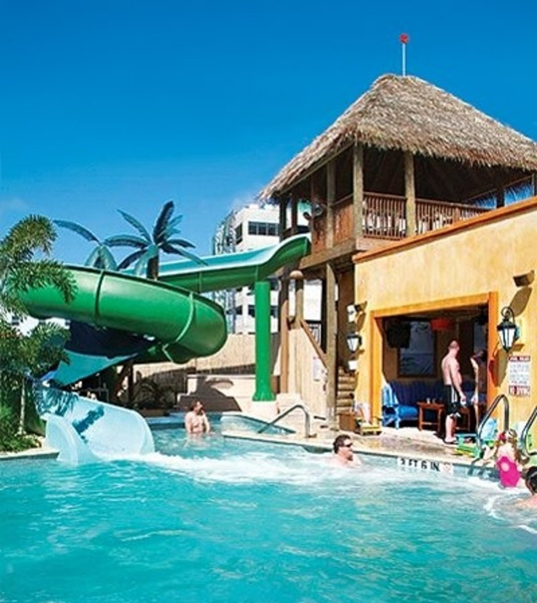 Water playground is one of the fun attractions at Margaritaville.