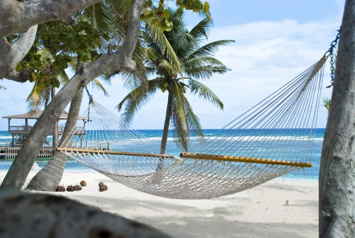 My favorite spot to hangout is in a hammock on the beach.