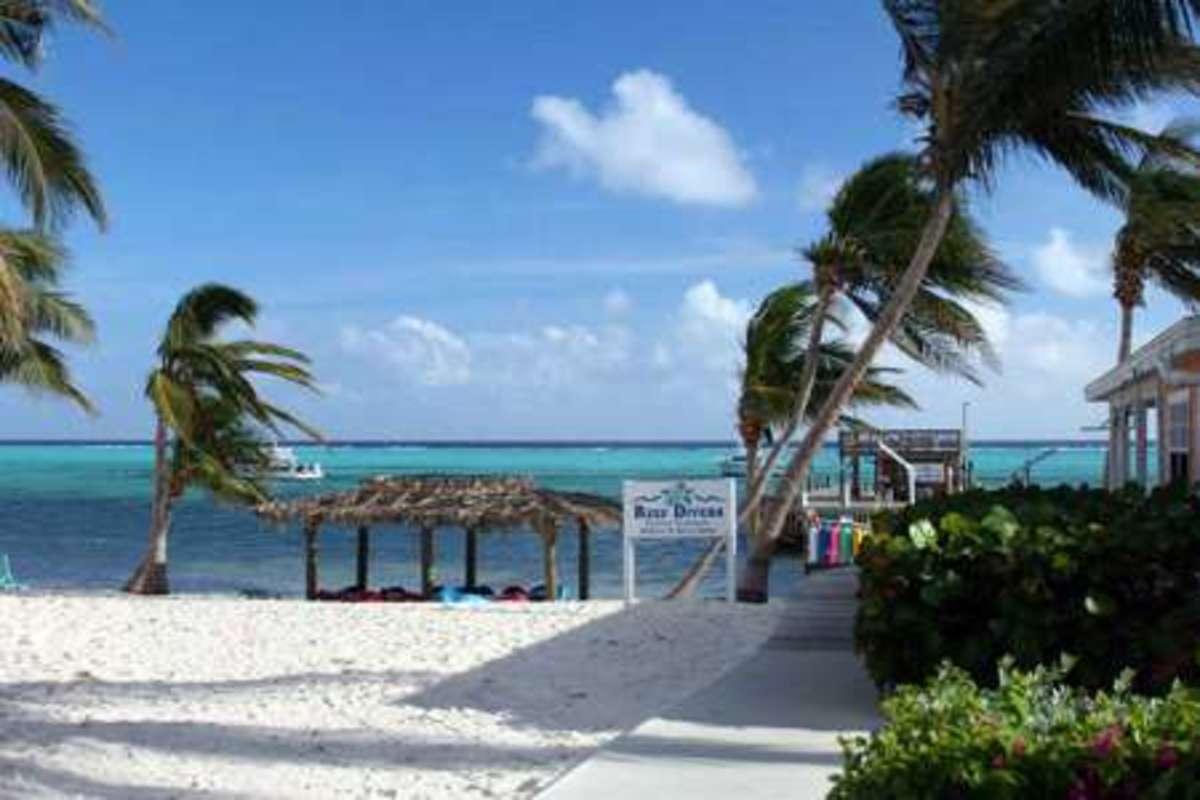 White sandy beaches at Little Cayman