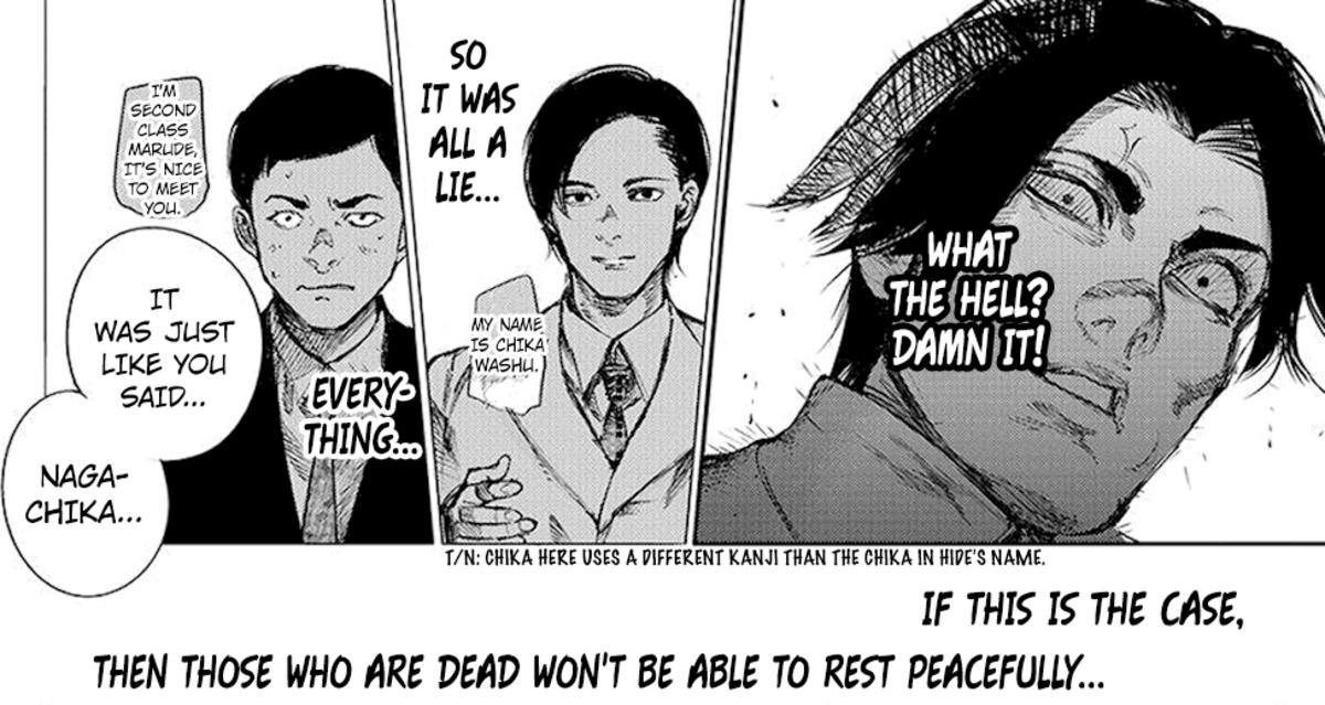 Marude saying that everything is as Nagachika told him.